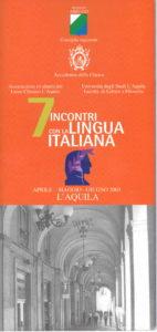 7 incontri con la lingua italiana