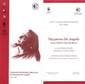 Presentazione del volume Nazzareno De Angelis ossia l'Opera vista dal Basso