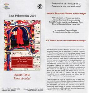 Presentazione del volume Antonio Zacara da Teramo e il suo tempo