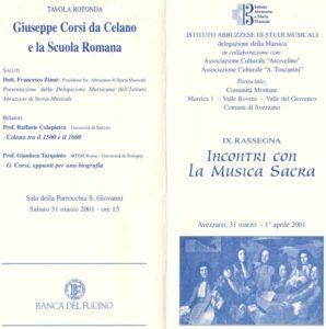 Giuseppe Corsi da Celano e la Scuola Romana