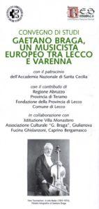 Gaetano Braga. Un musicista europeo tra Lecco e Varenna