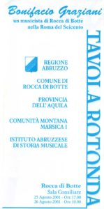 Bonifacio Graziani. Un musicista di Rocca di Botte nella Roma del Seicento