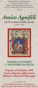 Amico Agnifili nel VI centenario della nascita (1398-1476)