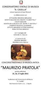 """Concorso Nazionale di Musica Antica """"Maurizio Pratola"""""""