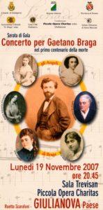 Concerto per Gaetano Braga nel primo centenario della morte