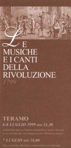 Le musiche e i canti della Rivoluzione. 1799