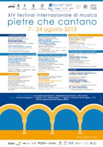 """Festival Internazionale di Musica """"Pietre che cantano"""""""
