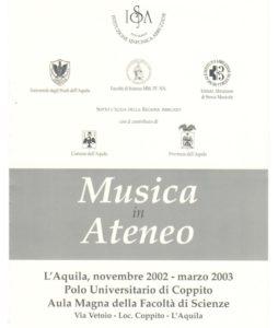 Musica in Ateneo