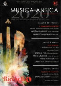 MUSICA ANTICA 2020